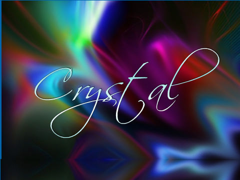 Crystal Name Wallpaper