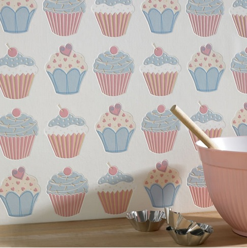 Cupcake Kitchen Wallpaper