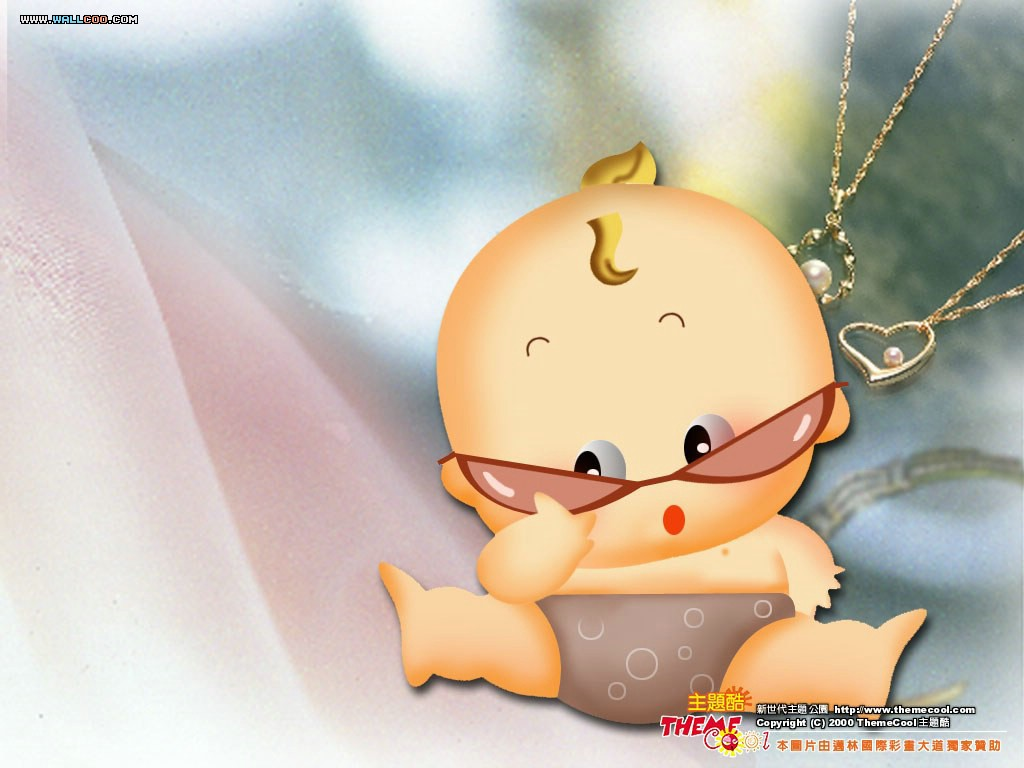 Cute Baby Cartoon Wallpaper