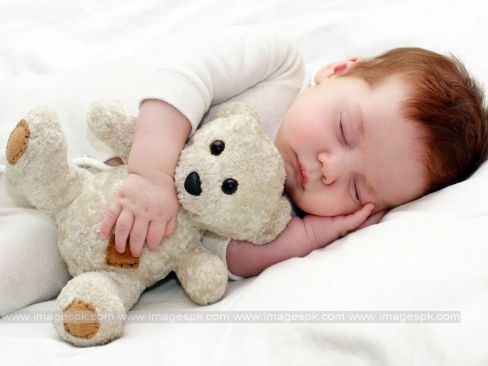 Cute Baby With Teddy Bear Wallpapers
