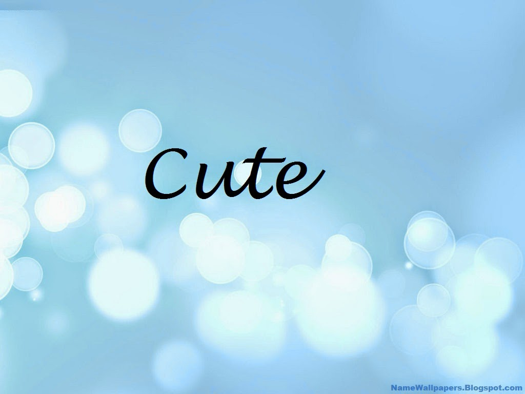 Cute Name Wallpaper