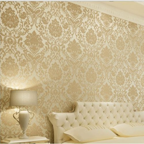 Download Damask Wallpaper Gold Cream Gallery
