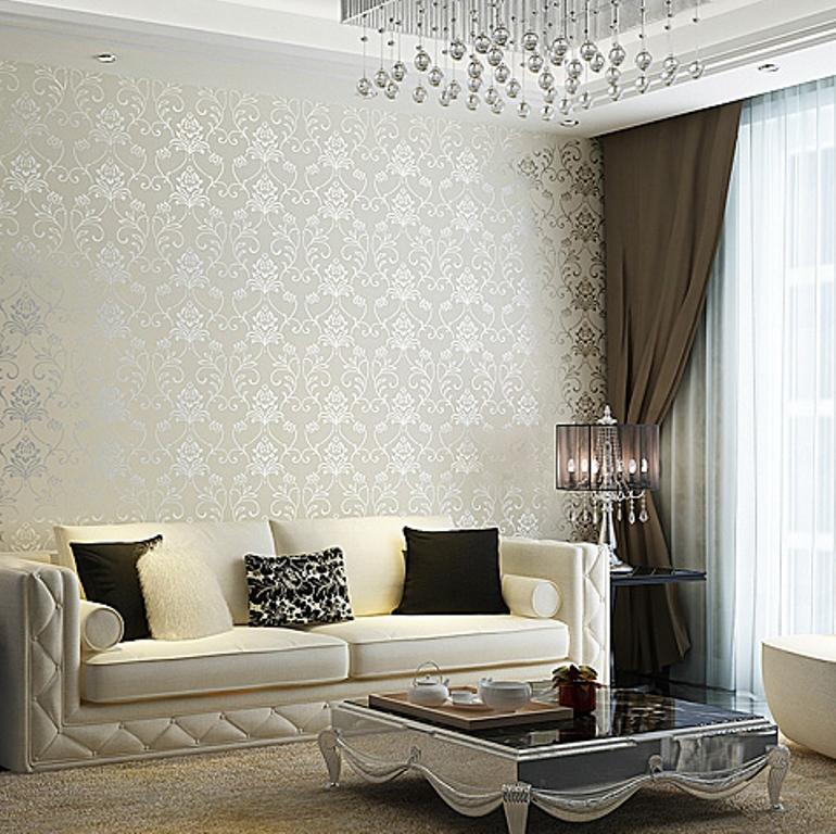 Damask Wallpaper Room