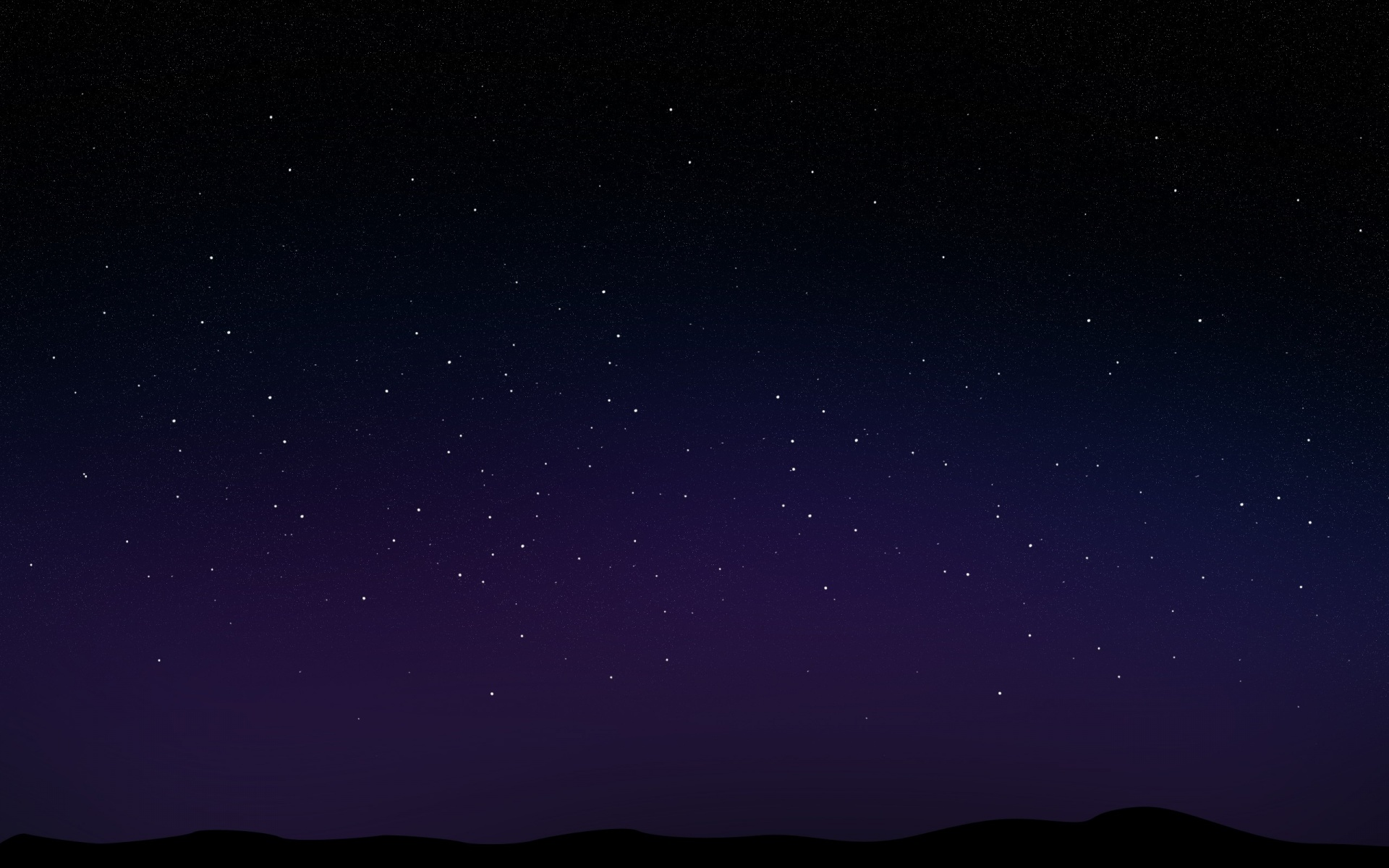Dark Sky Stars Wallpaper