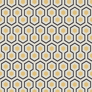 David Hicks Wallpaper Hexagon
