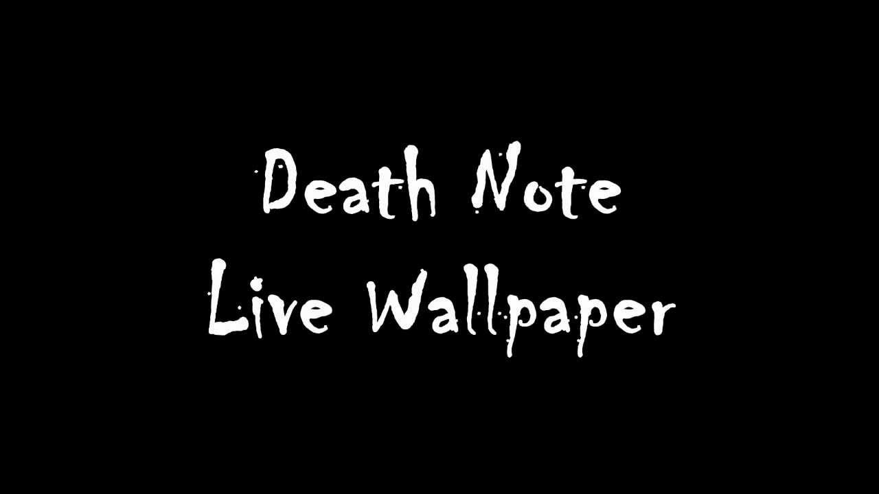Download Death Note Live Wallpaper Gallery