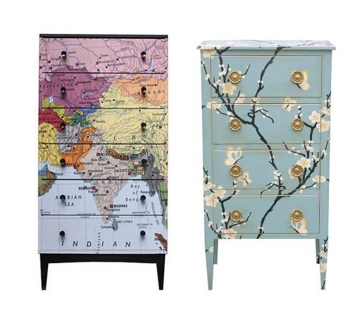 Decoupage Furniture With Wallpaper