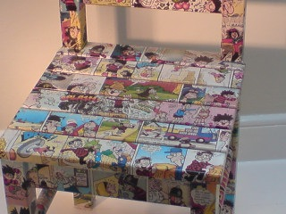 Decoupage Using Wallpaper
