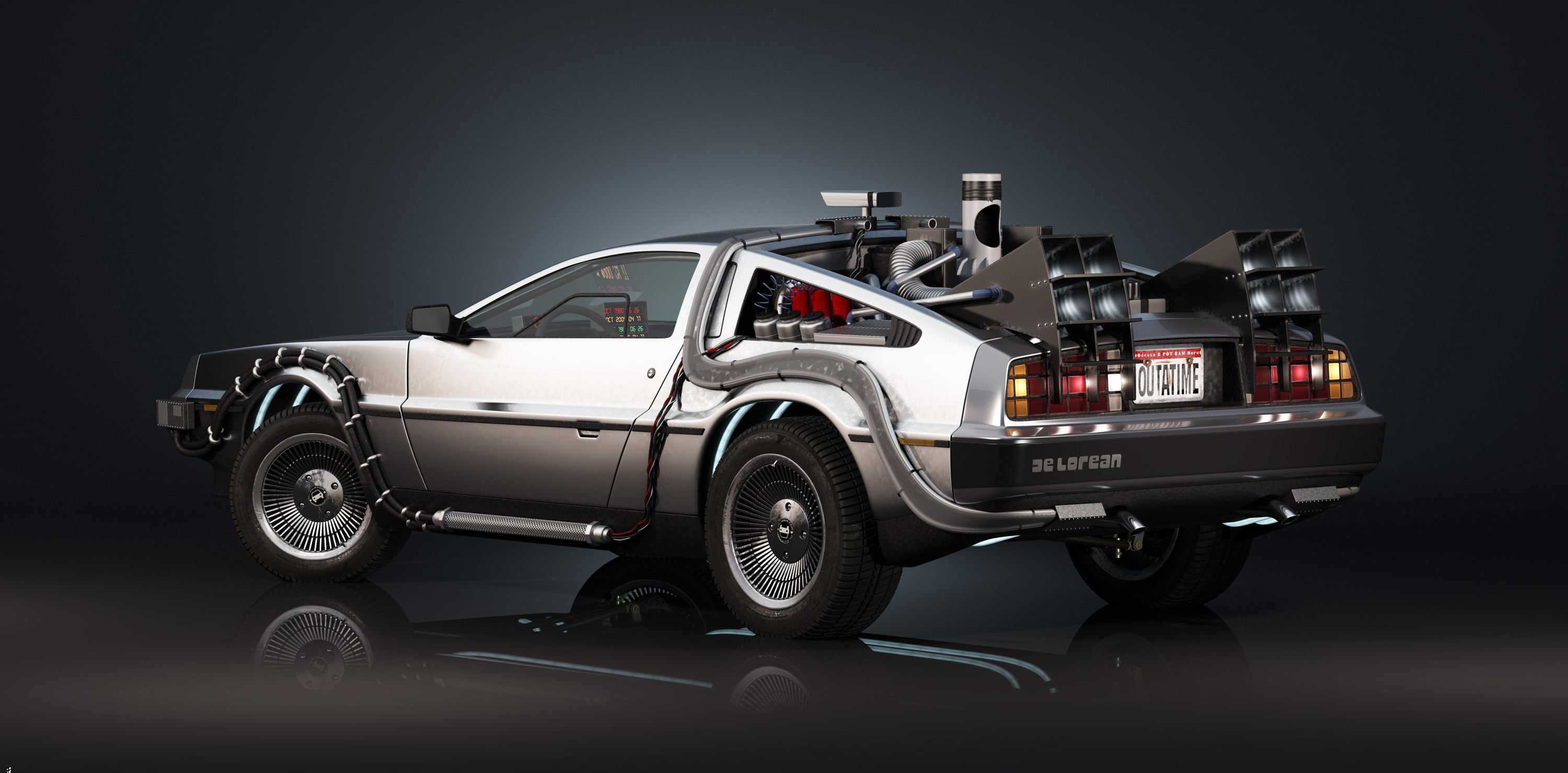 Delorean Back To The Future Wallpaper