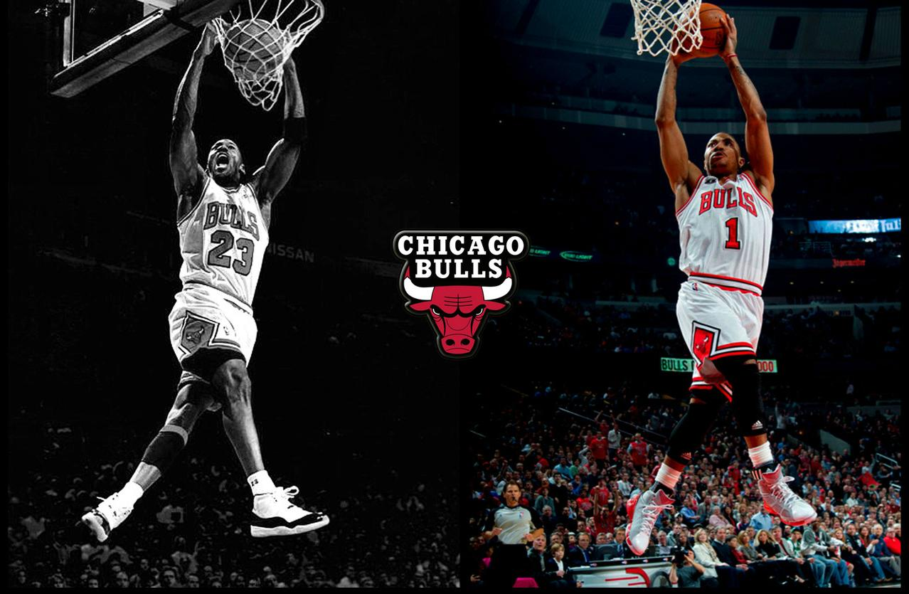 Derrick Rose And Michael Jordan Wallpaper