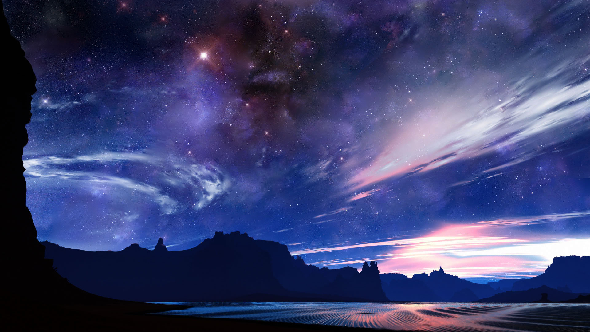 Desert Night Sky Wallpaper