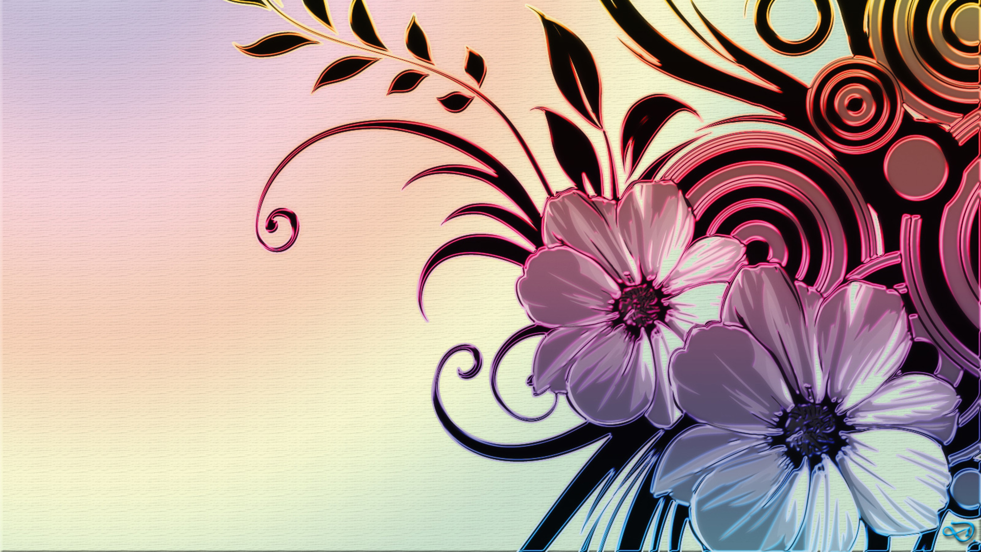 Designer Flower Wallpaper