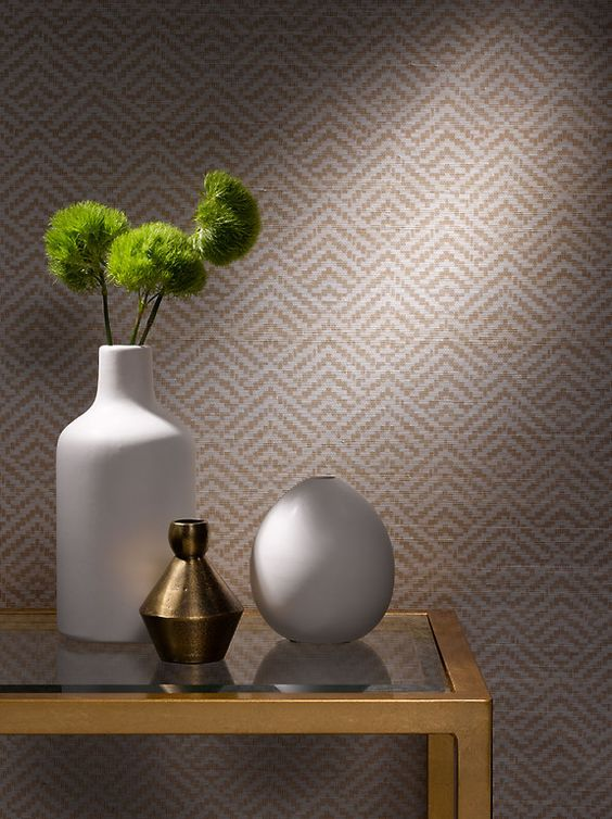 Designer Grasscloth Wallpaper