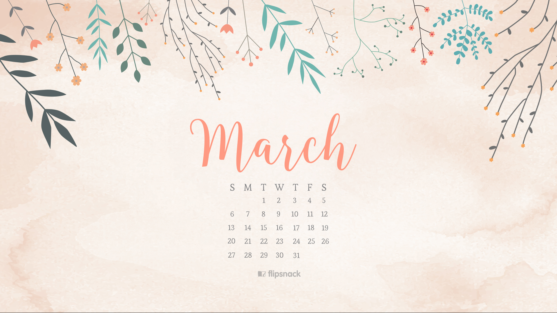 Desktop Calendar Wallpaper