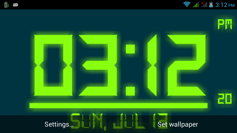 Digital Live Clock Wallpaper