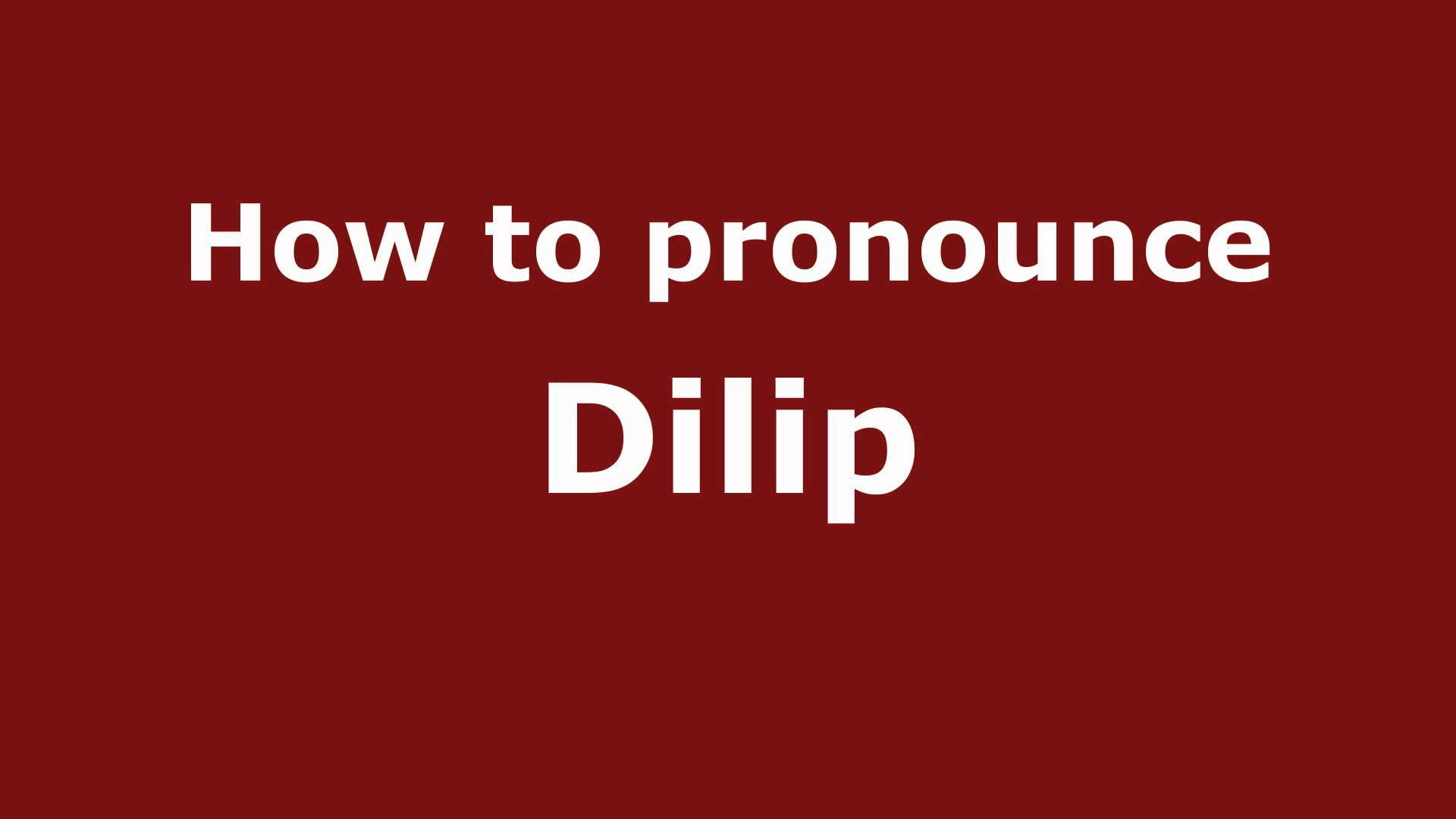 Dilip Name Wallpaper