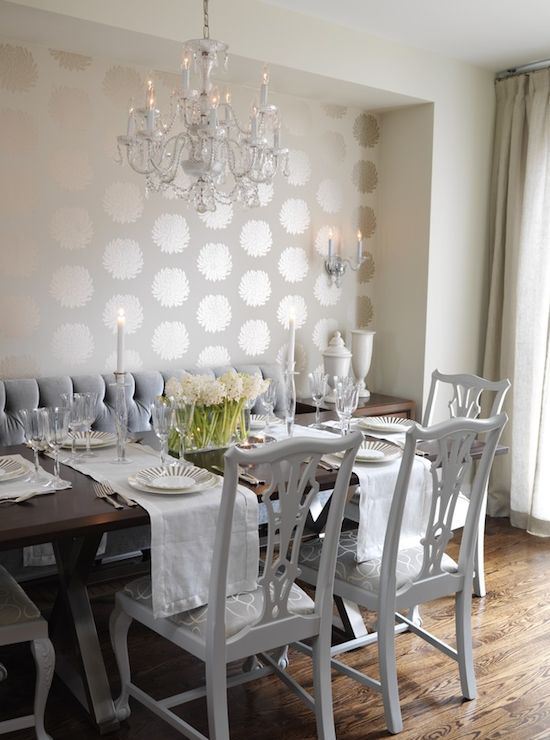 Charming Dining Room Wallpaper Accent Wall Ideas   Best .