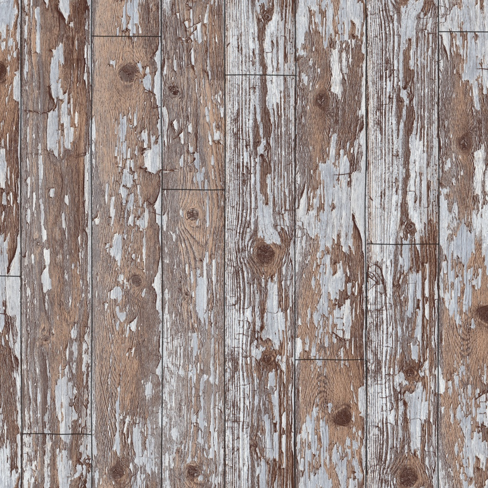 Distressed Wood Effect Wallpaper
