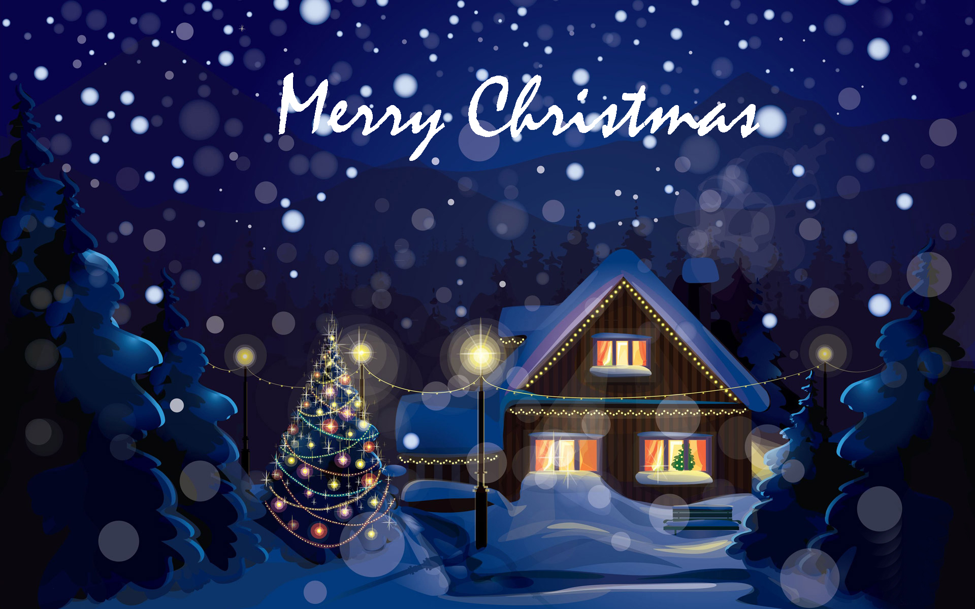 Happy Christmas HD wallpaper for download