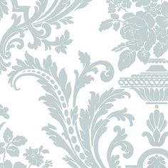 Duck Egg Blue And White Wallpaper