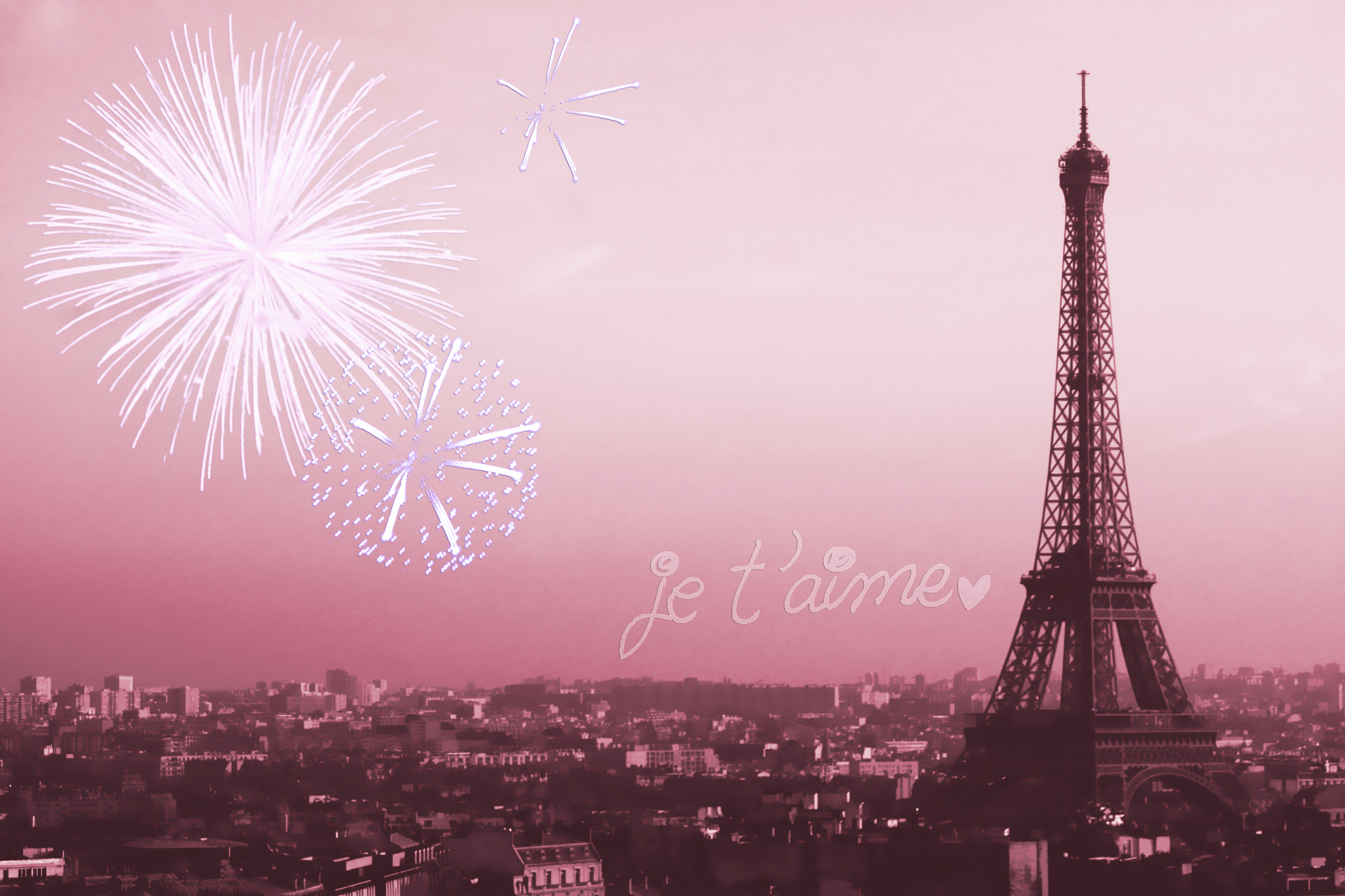 Eiffel Tower Pink Wallpaper