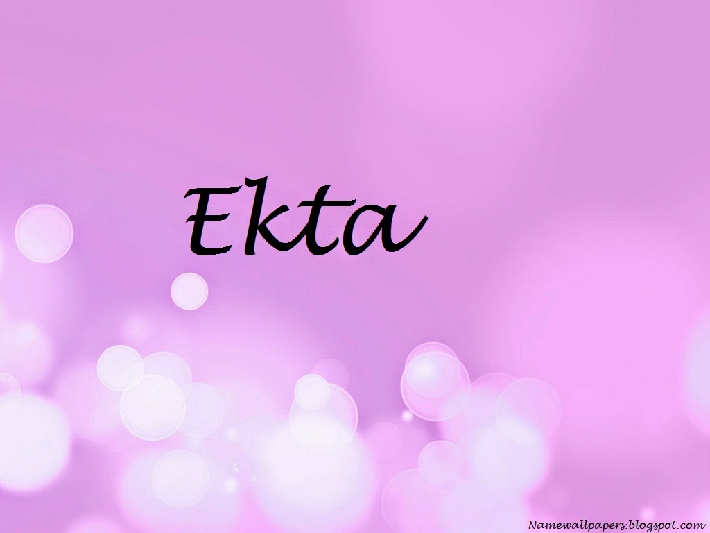 Ekta Name Wallpaper