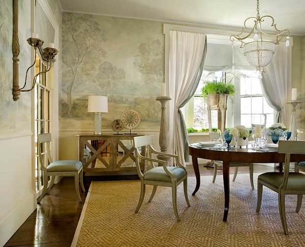 Elegant Wallpaper For Dining Rooms