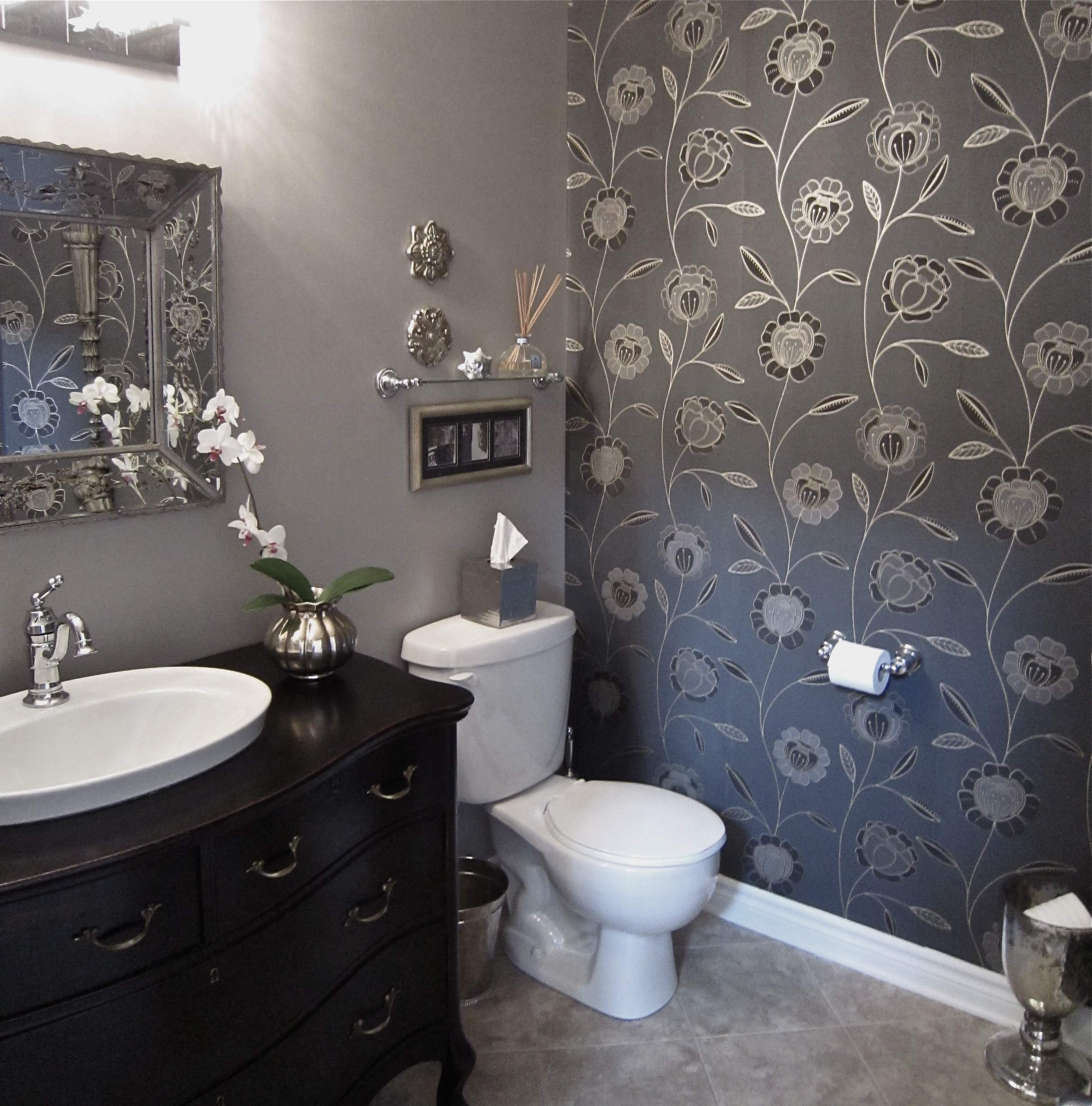 Download Elegant Wallpaper For Powder Room Gallery