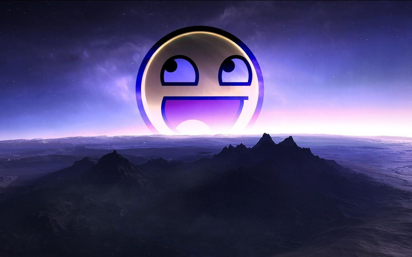 Epic Smiley Face Wallpaper