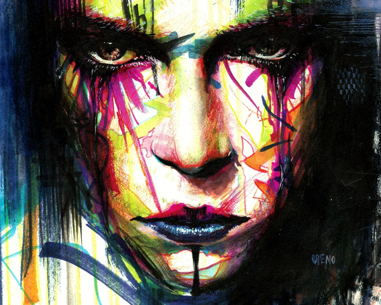 Face Art Wallpaper