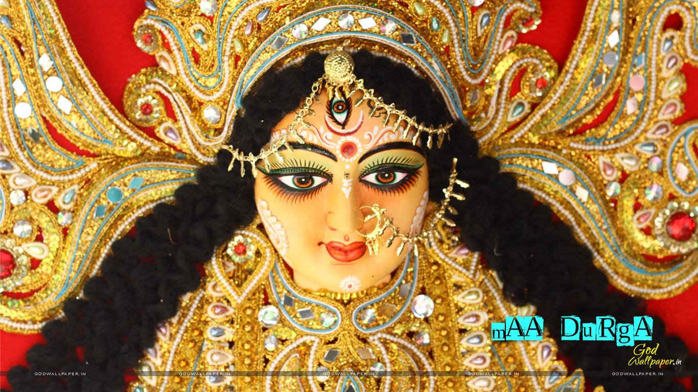 Face Of Durga Maa Wallpaper