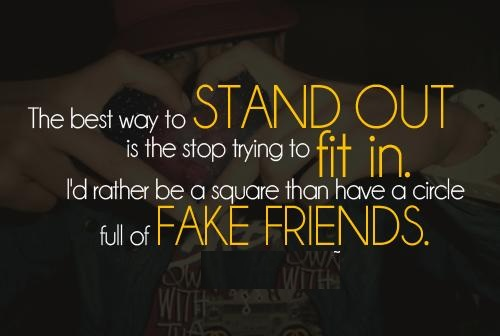 Fake Friends Quotes Wallpaper