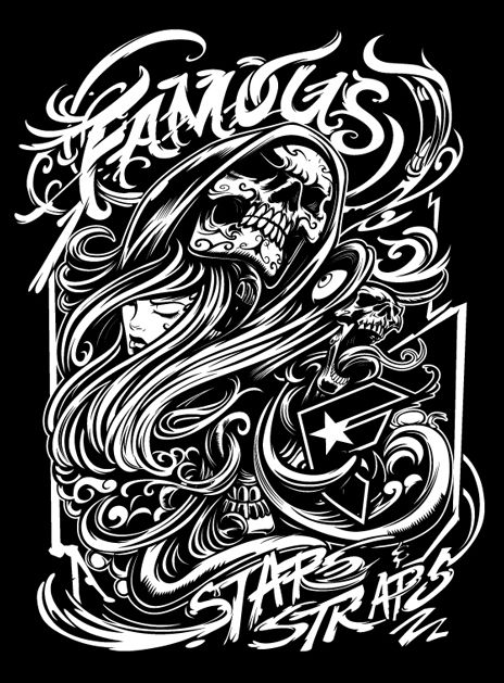 Famous Stars And Straps Logo Wallpaper