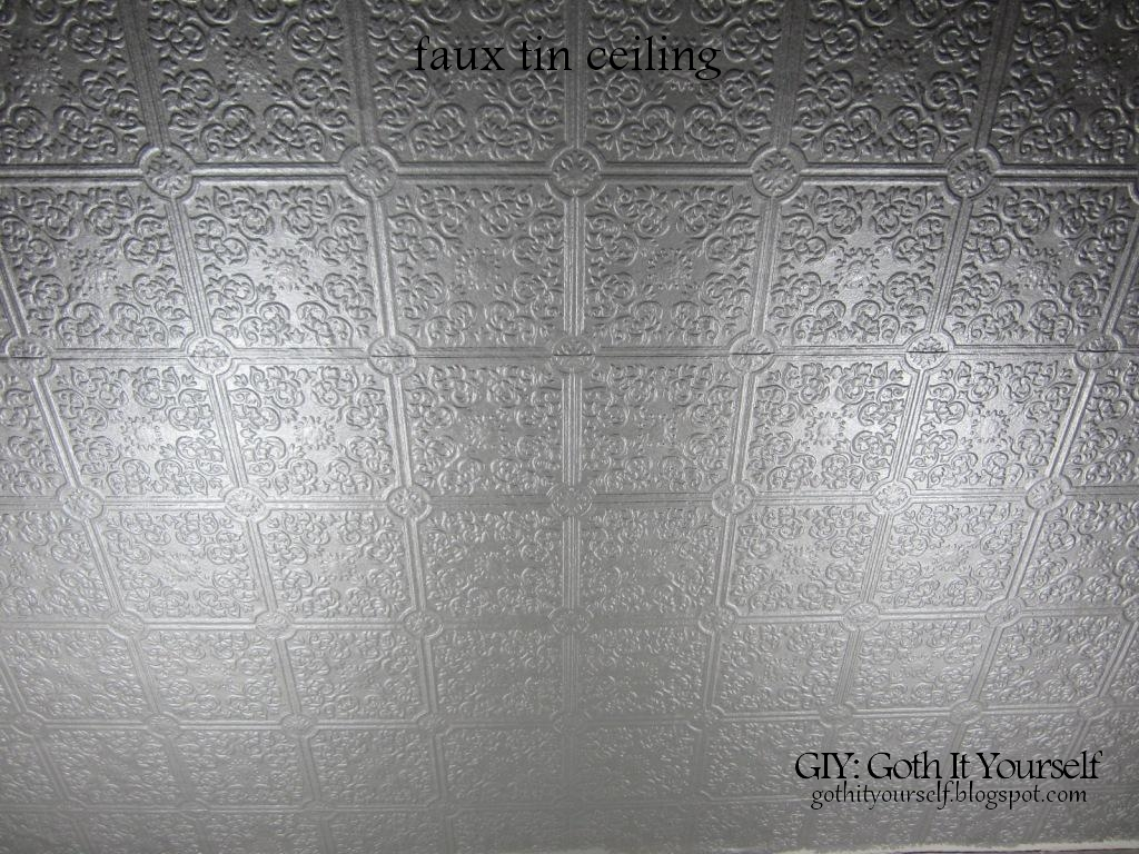 Faux Tin Ceiling Wallpaper