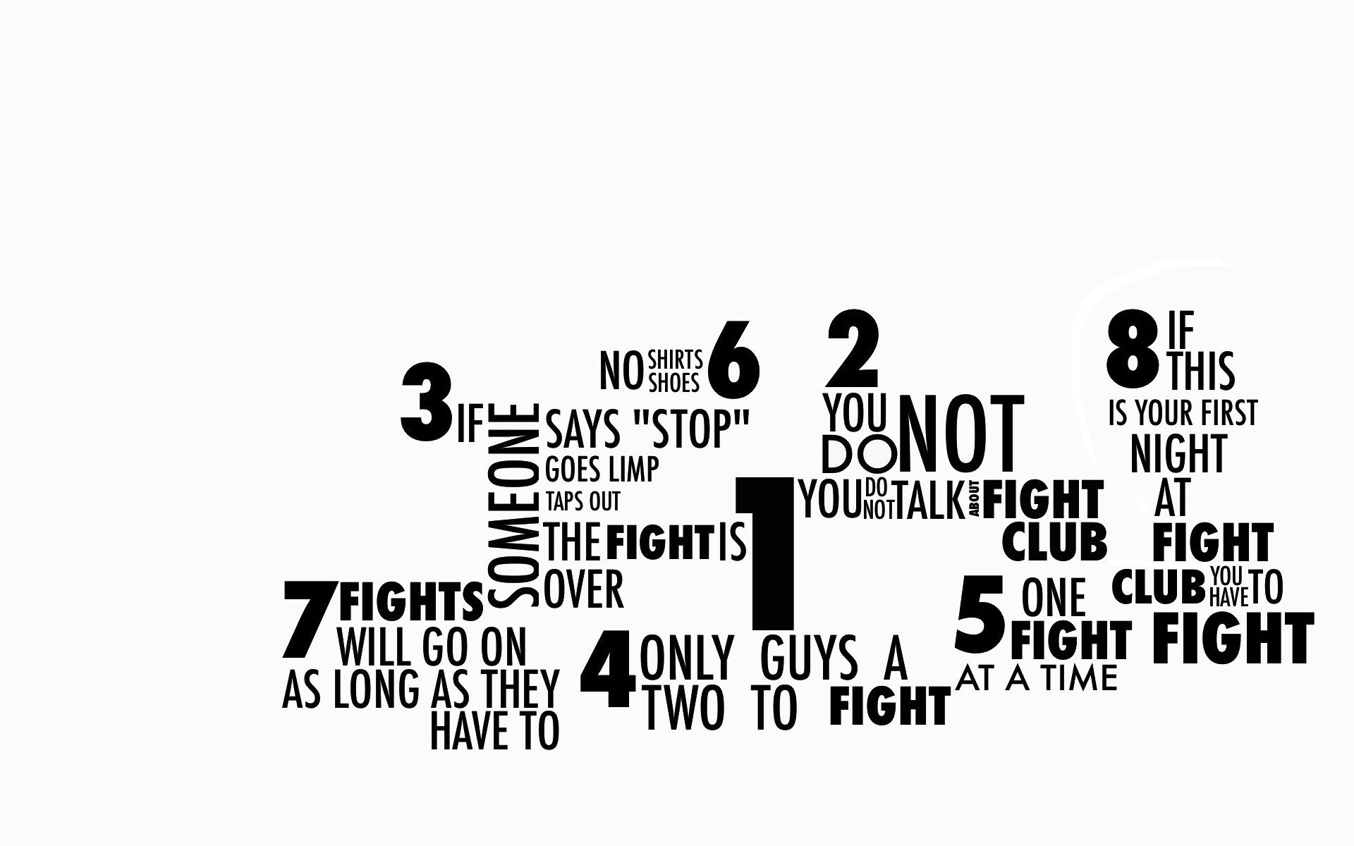 Fight Club Rules Wallpaper