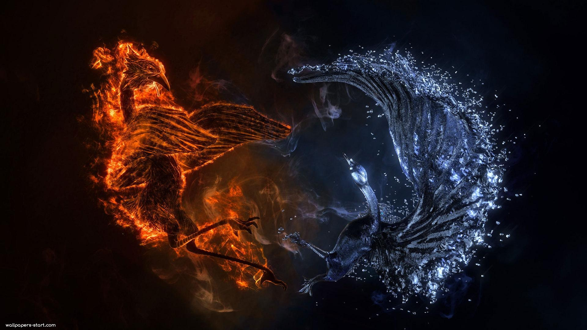 Fire And Water HD Wallpapers