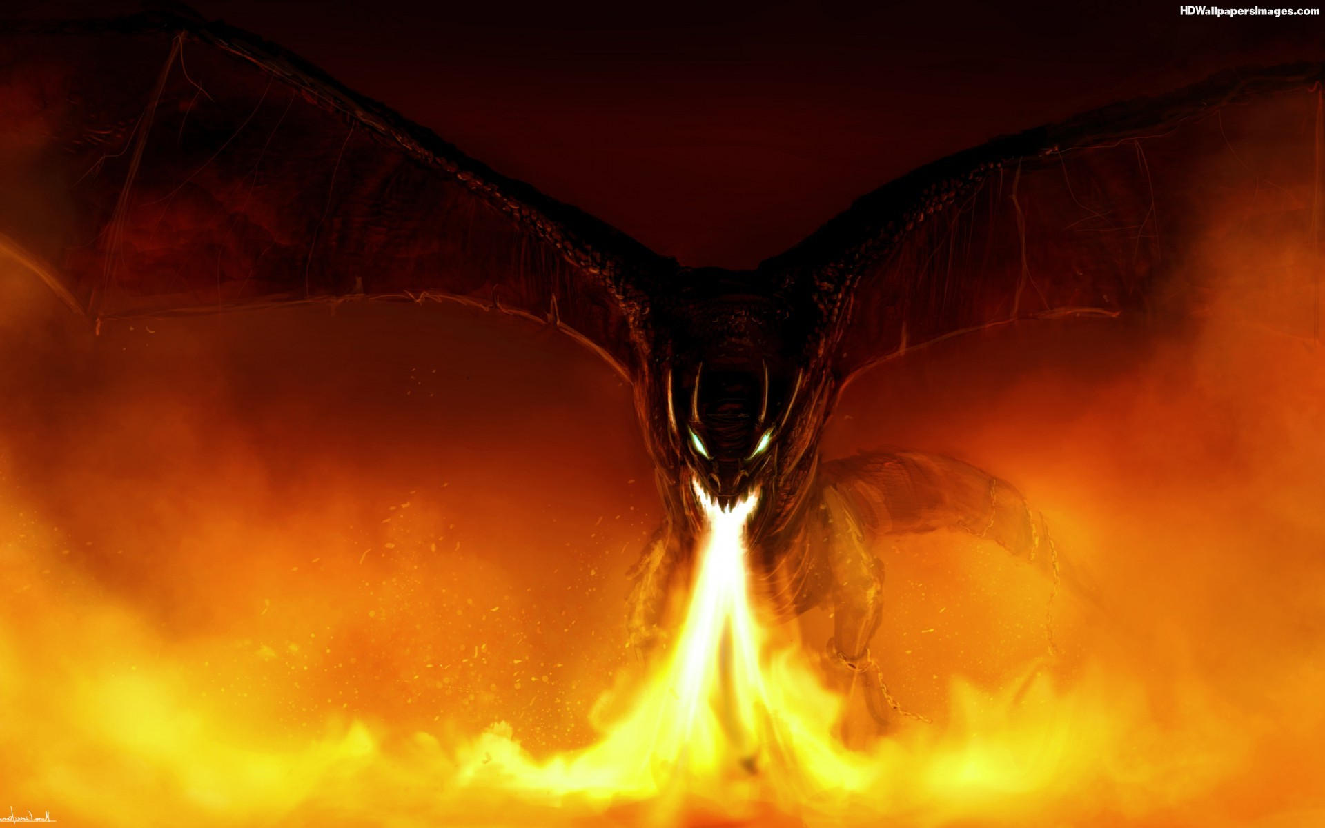 Fire Breathing Dragon Wallpaper