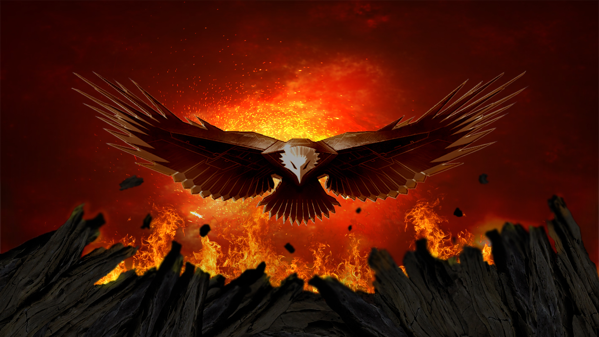 Fire Eagle Wallpaper