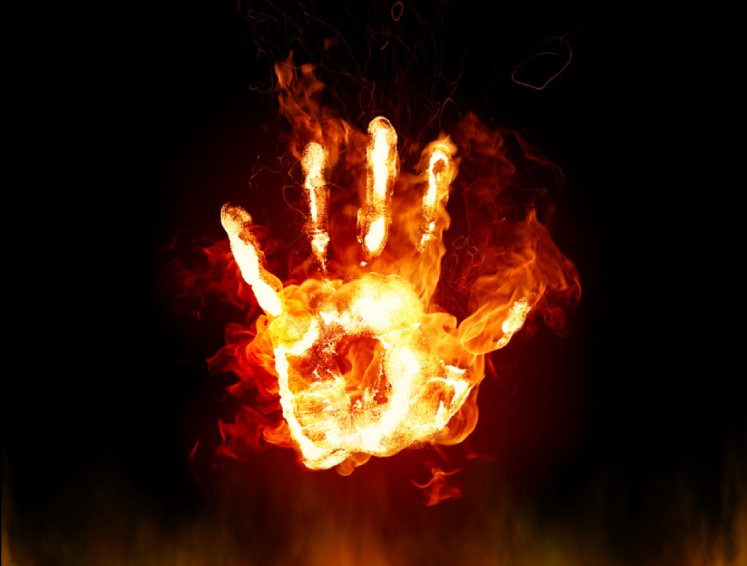 Fire Hand Wallpaper