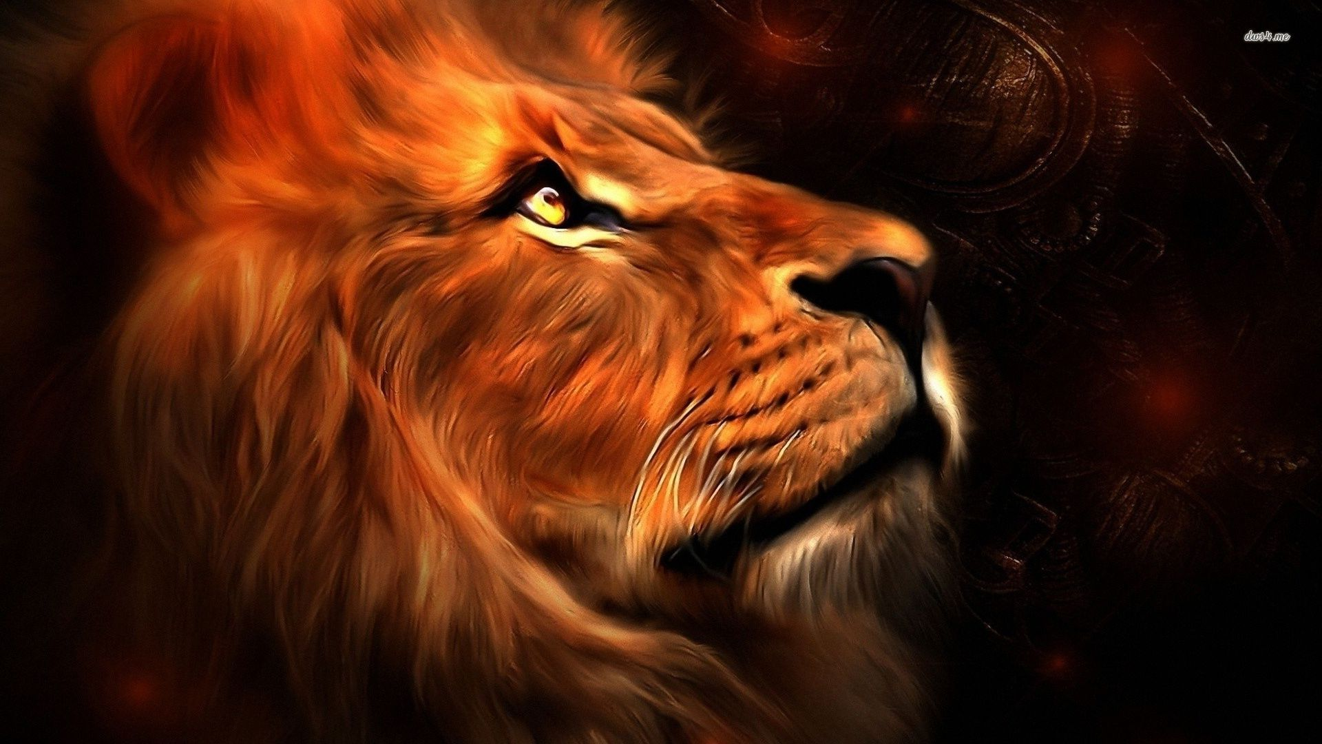 Lion Roaring Wallpaper Widescreen
