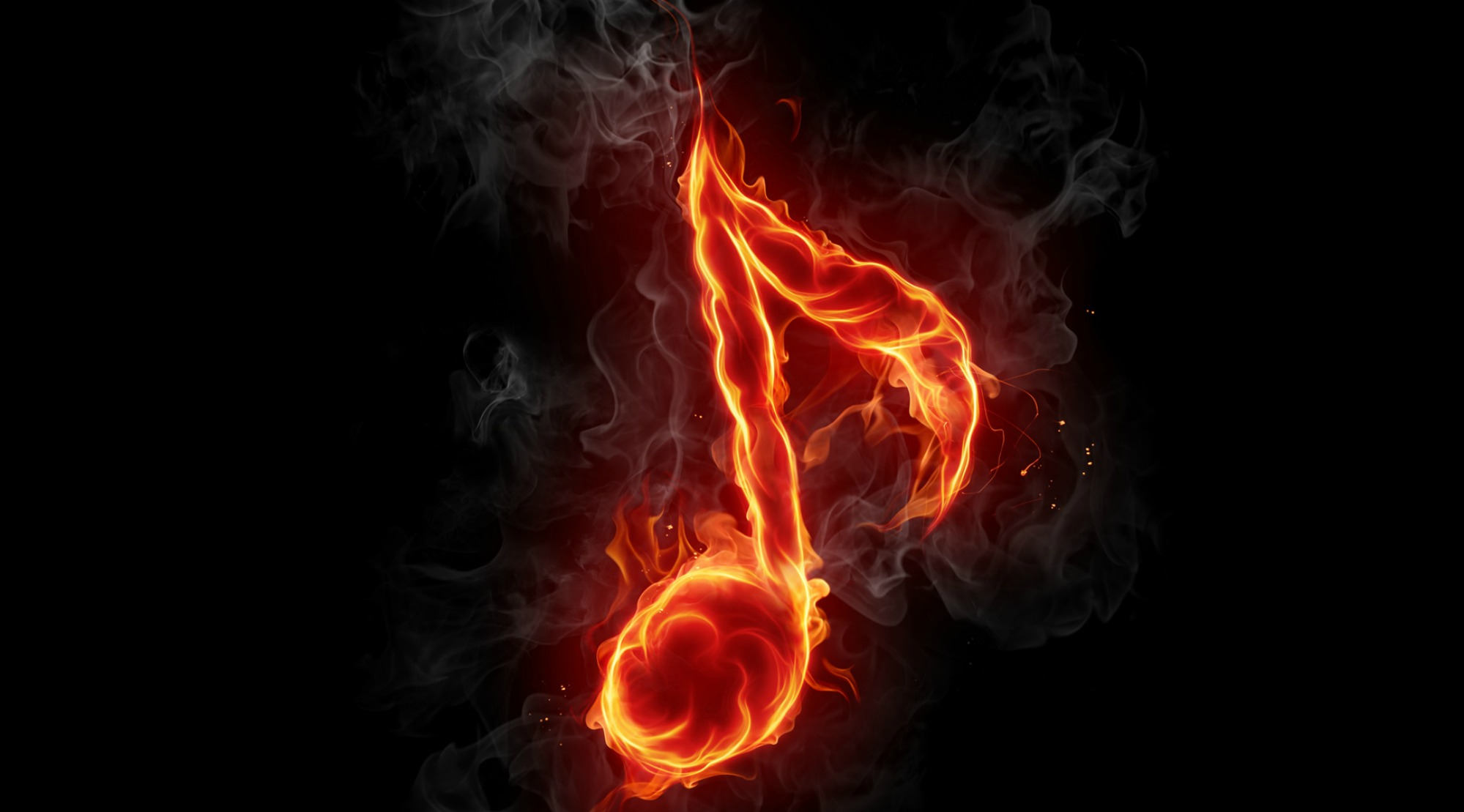 Fire Music Wallpaper