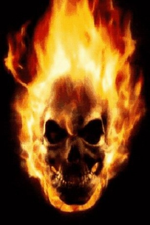 Fire Skull Live Wallpaper