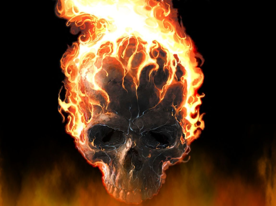 Download Fire Skull Wa...