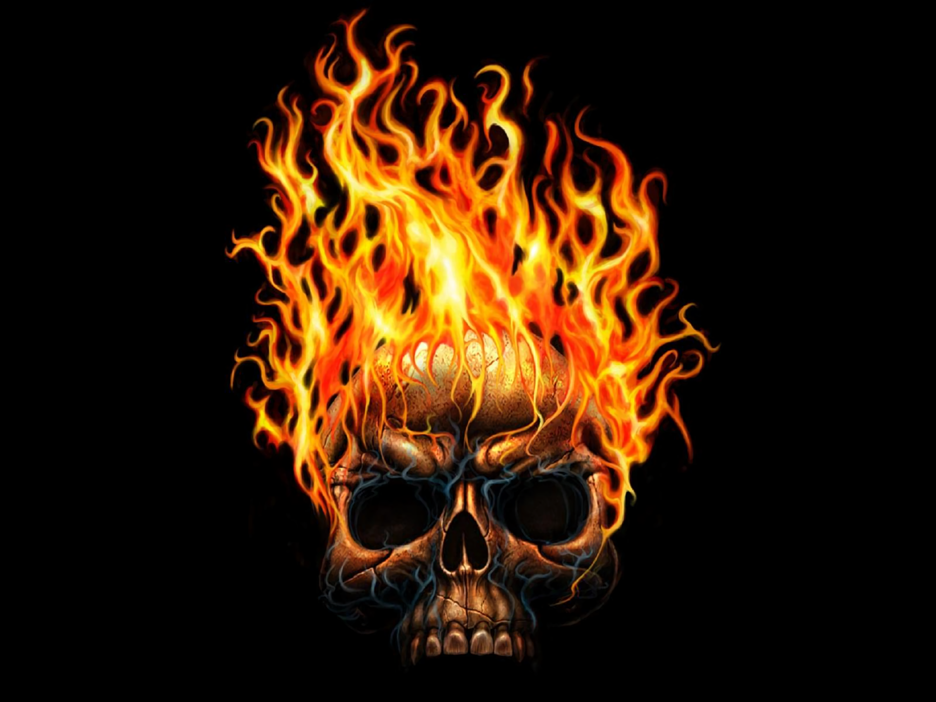 Fire Skull Wallpaper