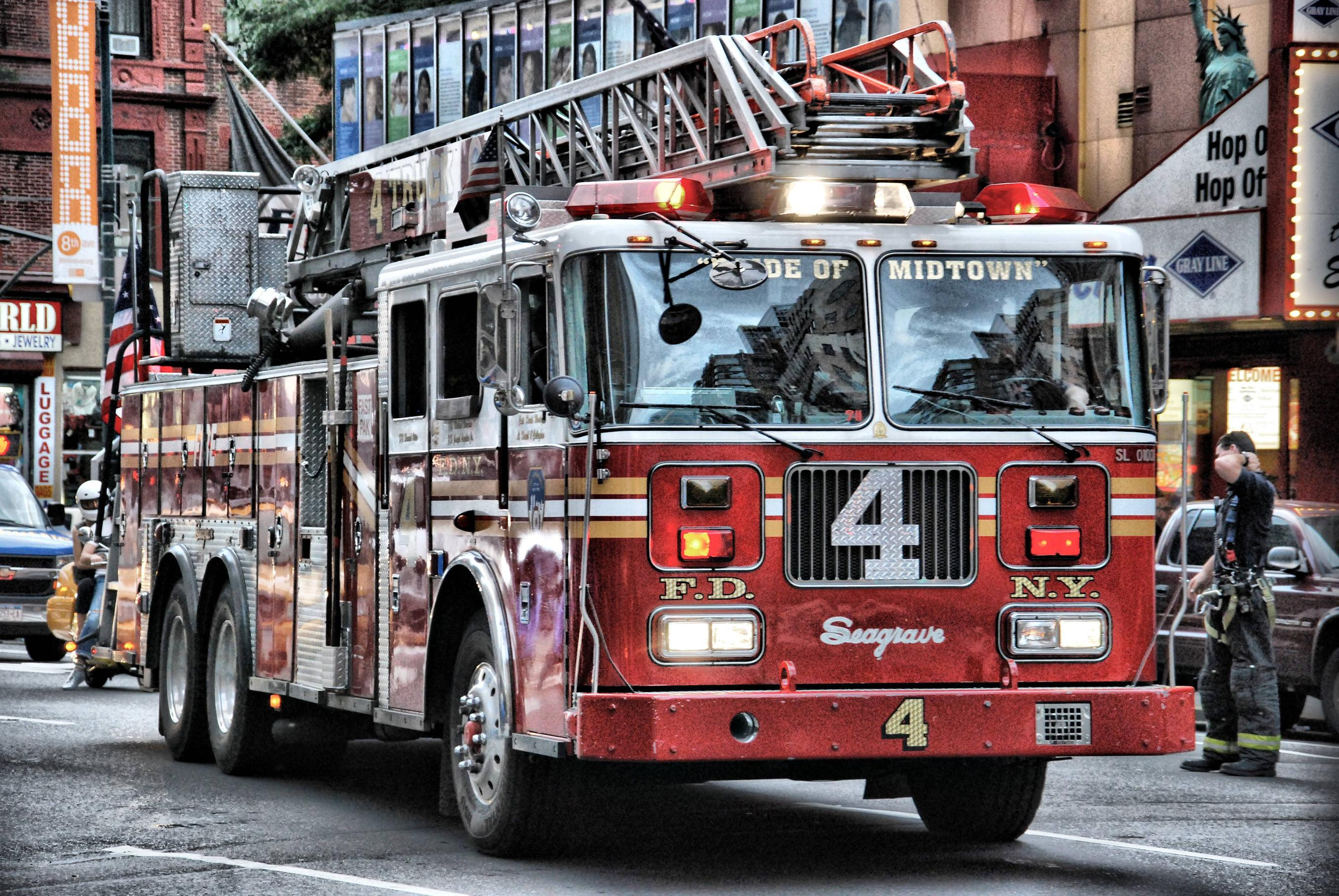 Fire Truck Desktop Wallpaper