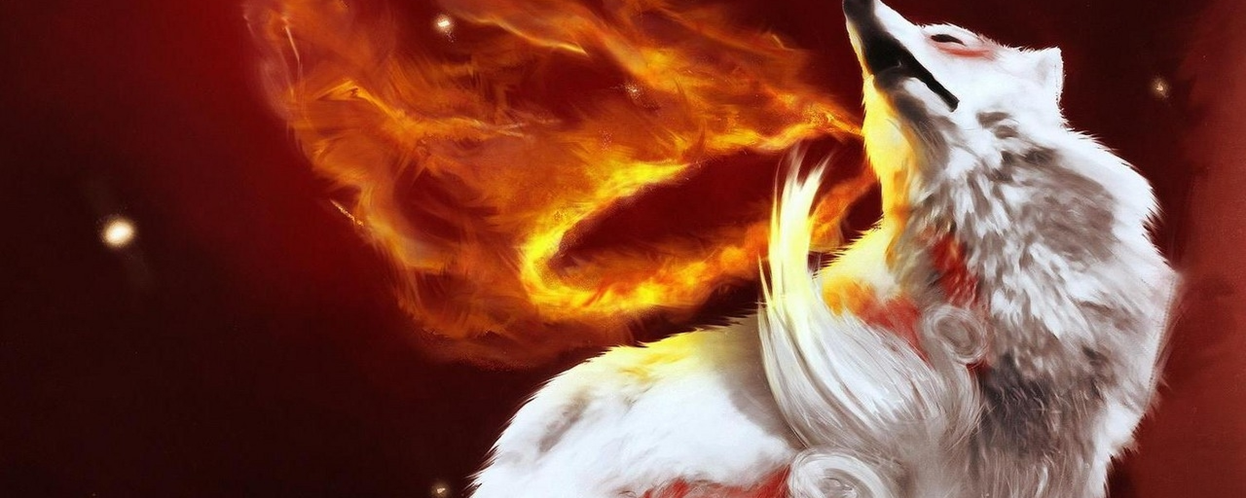 download fire wolf wallpaper gallery