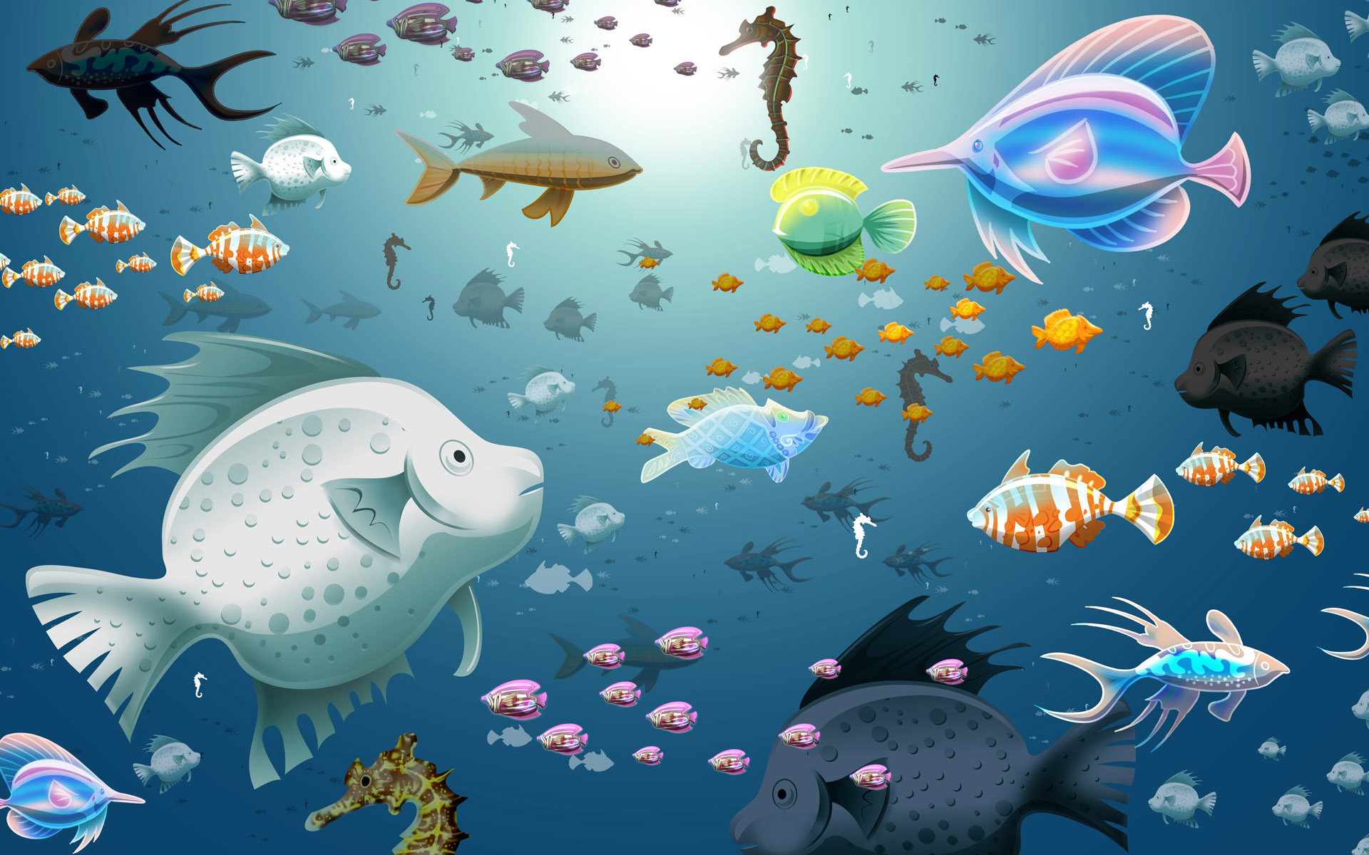 Fish Background Wallpaper