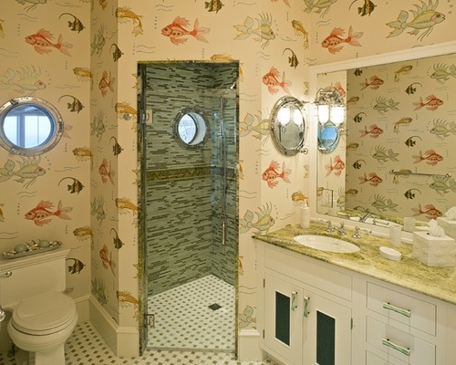 Fish Wallpaper Bathroom