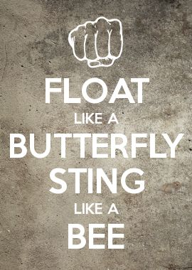 Float like a butterfly sting like a boob