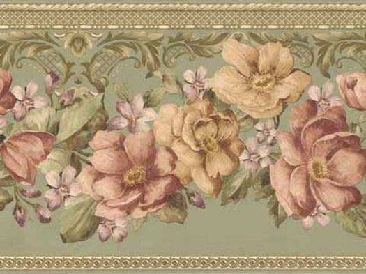 Floral Wallpaper Borders